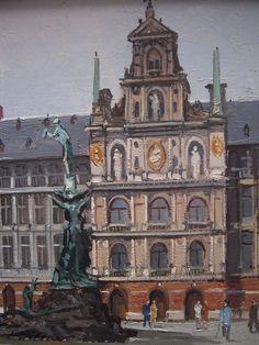 L. Wolters - 2de helft 20e eeuw - Antwerpen - Olie op doek