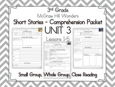 FINALLY! My guided reading sheets for McGraw Hill Wonders