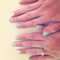 Mint & White nail polish