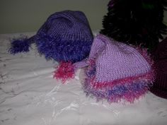 Santa's elves caps, made for Click for Babies (The Purple Crying Period), charity.