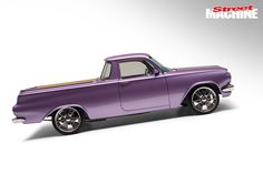 This unique purple EH Holden ute dubbed 'CLASSIC' was a standout-car from Summernats 21 Holden Australia, Australian Cars, New Toys, Classic Cars, Trucks, Car Stuff, Sick, Vans, Street