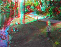 Child standing in tropical area. Anaglyph 3D Paradise | 6881507861_daa4706aa0_z.jpg