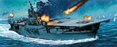 USS Lexington at the Battle of the Gilbert Islands, 1943 Military Diorama, Military Art, World Of Warships Wallpaper, Gilbert Islands, Navy Coast Guard, Uss Lexington, Naval History, Navy Ships, Ship Art