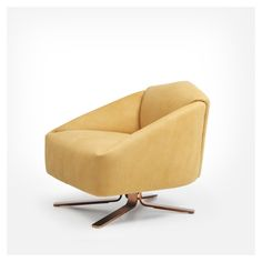 Snake Ranch   styletaboo:   Alfredo Häberli - DS 373 armchair. Width800 mm / 1000 mm Height740 mm Depth840 mm Seat finishwith upholstery Height of seat440 mm Depth of seat550 mm Base finishwith rockers Backrest finishwith back padding Armrest finishwith armrests Materialleather (unspecified) Colorsshades of yellow