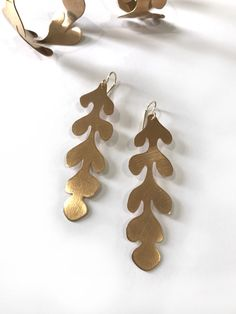 Matisse cut-out inspired statement earrings by Megan Auman