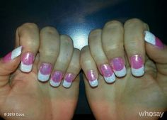 Coco Austin's French gels with sparkles