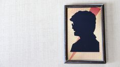 YouTube Tutorial: https://youtu.be/p34L0sFEC3U  #DIY #Craft #Silhouette #Frame #RoomDecor #Picture #HarryPotter #Shadow #Profile