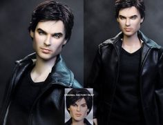Such skill at repaints! Appartently he uses arcylics to achieve such life like features in the doll.  Vampire Diaries Damon doll by *noeling on deviantART