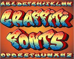 graffitti style lettering - font