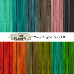 Wood Digital Paper, Scrapbooking, Scrapbook paper, Invitations, Digital Frames…