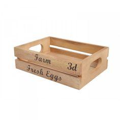 Dřevěná přepravka na vejce Baroque, T&G Woodware, 23x17 cm