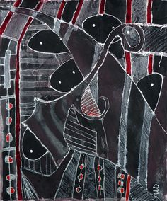 senza titolo - acrilico, pastelli ad olio, tessuto su tela - 103x82 - 2012