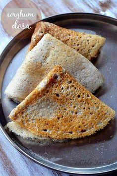 Jowar Dosa - Sorghum (Jonnalu) Dosa - South Indian Dosa Recipes