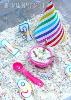 Birthday Cake Cloud Dough Recipe!