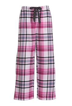 Pink Check Wide Leg Pant | Peter Alexander