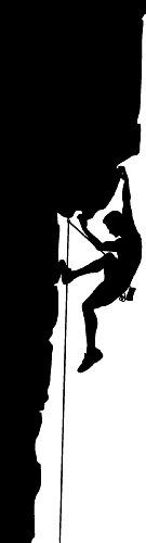 Rock Climbing Wall Sticker Decal - Sports Silhouette Decoration Mural - 36 in. Black TheVinylGuru,http://www.amazon.com/dp/B00BBGG2WW/ref=cm_sw_r_pi_dp_MSKRsb022CJZCFFC