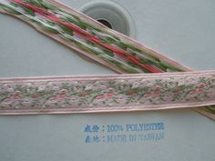 """10 Yds Little Light Pink Rose Roses Picot Double Faced Satin Ribbon 5//8/""""W"""