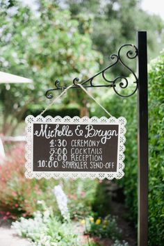 If possible plan your timeline carefully to keep your guests occupied throughout the wedding. From Style Me Pretty #weddingsigns #reception