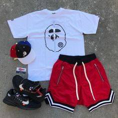 Swag Outfits Men, Lit Outfits, Stylish Mens Outfits, Short Outfits, Casual Outfits, Queer Fashion, Dope Fashion, Cool Street Fashion, Urban Fashion