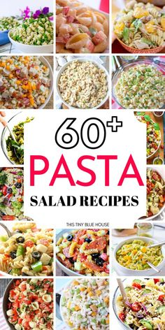 Here are 60 easy pasta salad recipes that are perfect sides for any summer BBQ you host. Perfect for BBQs lunches and snacks these salads are a must try. Easy Pasta Salad Recipe, Pasta Recipes, Dinner Recipes, Cooking Recipes, Healthy Recipes, Healthy Dips, Summer Bbq, Summer Salads, Cheap Bbq
