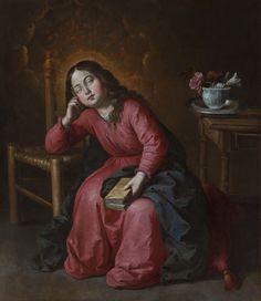 Francisco de Zurbarán (Fuente de Cantos, 1598 – Madrid, 1664), La Vierge enfant endormie. Huile sur toile, 103 x 90 cm. Provenance : Acheté en France au milieu du XXe siècle.