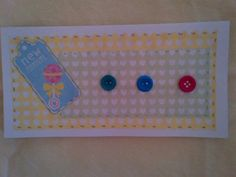 A new baby girl or boy card to celebrate the new arrival. 20x10.5cms