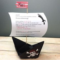 Pirate Invitation: Three Pirate Ideas- Piraten Einladung: Drei piratenstarke Ideen How do you invite to a pirate party befitting? Here, of course, a real pirates invitation ago – We have some ideas! Surprise Party Invitations, Pirate Invitations, Invitation Cards, Invite, Pirate Theme, Cactus Photography, Birthday Parties, Birthdays, Gifts