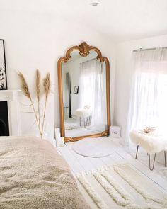 Home Interior Design xx.Home Interior Design xx Home Bedroom, Bedroom Mirrors, Bedroom Ideas, Master Bedrooms, Modern Bedroom, Contemporary Bedroom, Big Mirror In Bedroom, Parisian Bedroom Decor, Ikea Bedroom