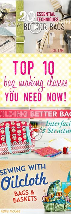 bag making techniques | learn to sew bags | bag sewing patterns | totes | purse patterns