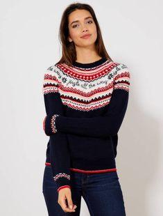 Pullover di Natale Jacquard BLU Donna- Kiabi- Christmas Jumper Day