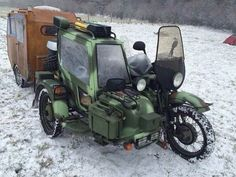 Ural Motorcycle, Motorcycle Camping, Motorcycle Garage, Touring Motorcycles, Cool Motorcycles, Bike Rollers, Three Wheel Bicycle, Electric Tricycle, Expedition Truck