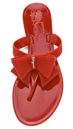 bc049d6b5e5 Salvatore Ferragamo Bali Jelly Thong Sandals Rubber Sandals