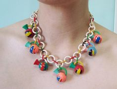 1930s Senorita Fiesta Celluloid Necklace