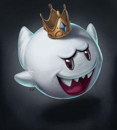 Mario: King Boo by Dylean Super Mario Art, Super Mario World, Mario Smash, King Boo, Knight Art, Mario And Luigi, Video Game Art, Video Games, Retro