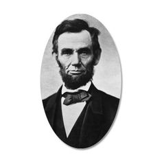 Abraham Lincoln Portrait Wall Decal on CafePress.com