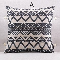 Black and white decorative pillows for couch modern geometric sofa cushions