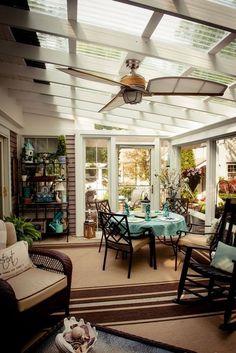 27 Amazing Photos of Fresh Patio Rooms Ideas Interiordesignshome.com Patio Becomes A Beautiful Three Season Porch