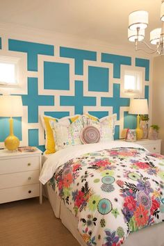 Teen girl's bedroom at Arista by Davidson Communities. Interior Design by Design Line Interiors