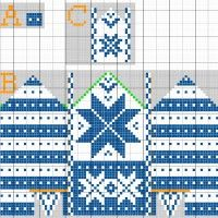 Stitch Fiddle is an online crochet, knitting and cross stitch pattern maker. Knitted Mittens Pattern, Knit Mittens, Baby Knitting Patterns, Knitting Socks, Knitting Stitches, Mitten Gloves, Cross Stitch Pattern Maker, Cross Stitch Patterns, Fair Isle Pattern