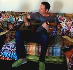 David Duchovny playing the guitar. David Duchovny, Writer, Singer, Actors, Writers, Singers, Authors, Actor