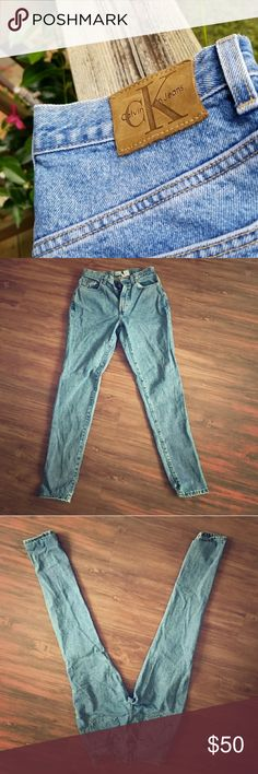 "Calvin Klein Vintage Mom Jeans Vintage high waisted Calvin Klein jeans ""mom jeans"" these are practically brand new. No defects Calvin Klein Jeans Jeans Straight Leg"