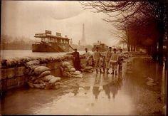 Paris pendant la crue de la Seine en 1910