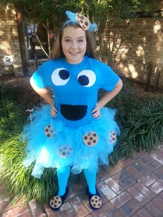 d6220a3eab69 Homemade cookie monster costume! Teen Girl Costumes