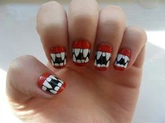Vampire teeth nails