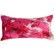 Anna Jacobs Sedum Detail Bolster Cushion featuring polyvore, home, home decor, throw pillows, red, fall home decor, red flower throw pillows, red throw pillows, autumn home decor and red accent pillows