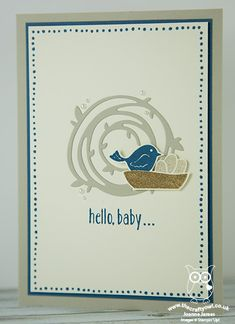 Swirly Scribbles Bird's Nest Baby Card