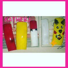 #pokémongo #pikachú #diseño #design  #uñas #nails  #KATHEBJ ✔