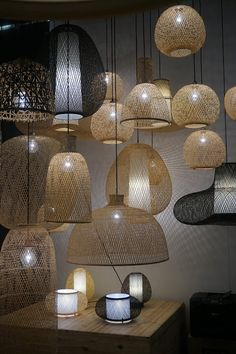 [On aime] M&o 2017 - ay illuminate - Interior crisp Bamboo Pendant Light, Plug In Pendant Light, Pendant Lamps, Pendant Lighting, Boho Lighting, Custom Lighting, Deco Luminaire, Luminaire Design, Ay Illuminate