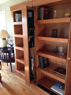 SafeGuard Shelving System Provides Stealth And Security With Secret Hidden  Compartments. Hidden Storage For Firearms, Jewelry, Documents, Or  Electronics ...