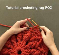 Col Crochet, Crochet Carpet, Crochet Mandala, Crochet Home, Crochet Basics, Crochet Quilt, How To Crochet For Beginners, Diy Crochet Rug, Russian Crochet